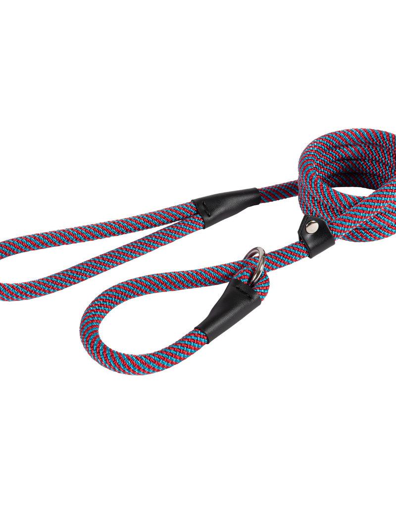 Ancol Rope Slip Lead Red/Blue Stripe 150cm x 1.2cm