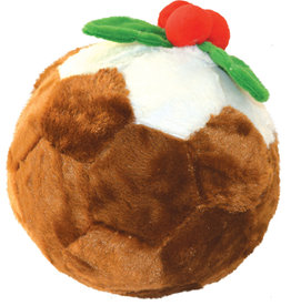 Happy Pet Christmas Doggie Delights Football Pudding Dog Toy