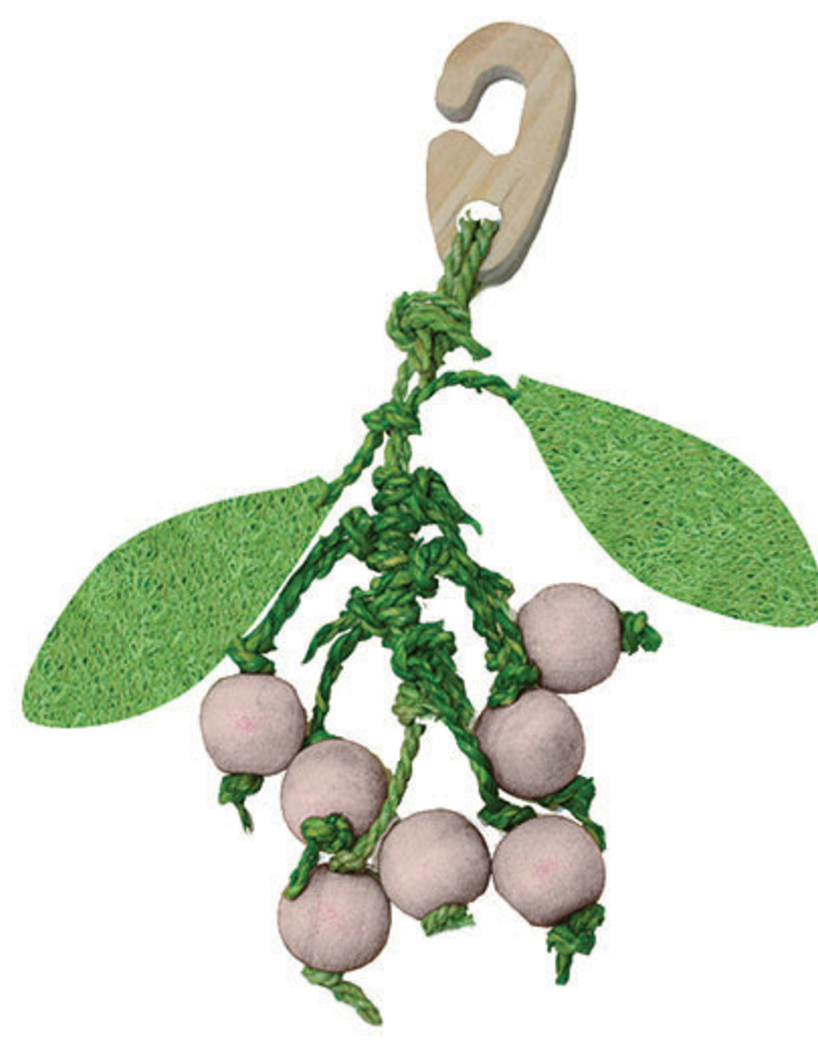 Happy Pet Christmas Mistletoe Nibbler Small Animal Toy