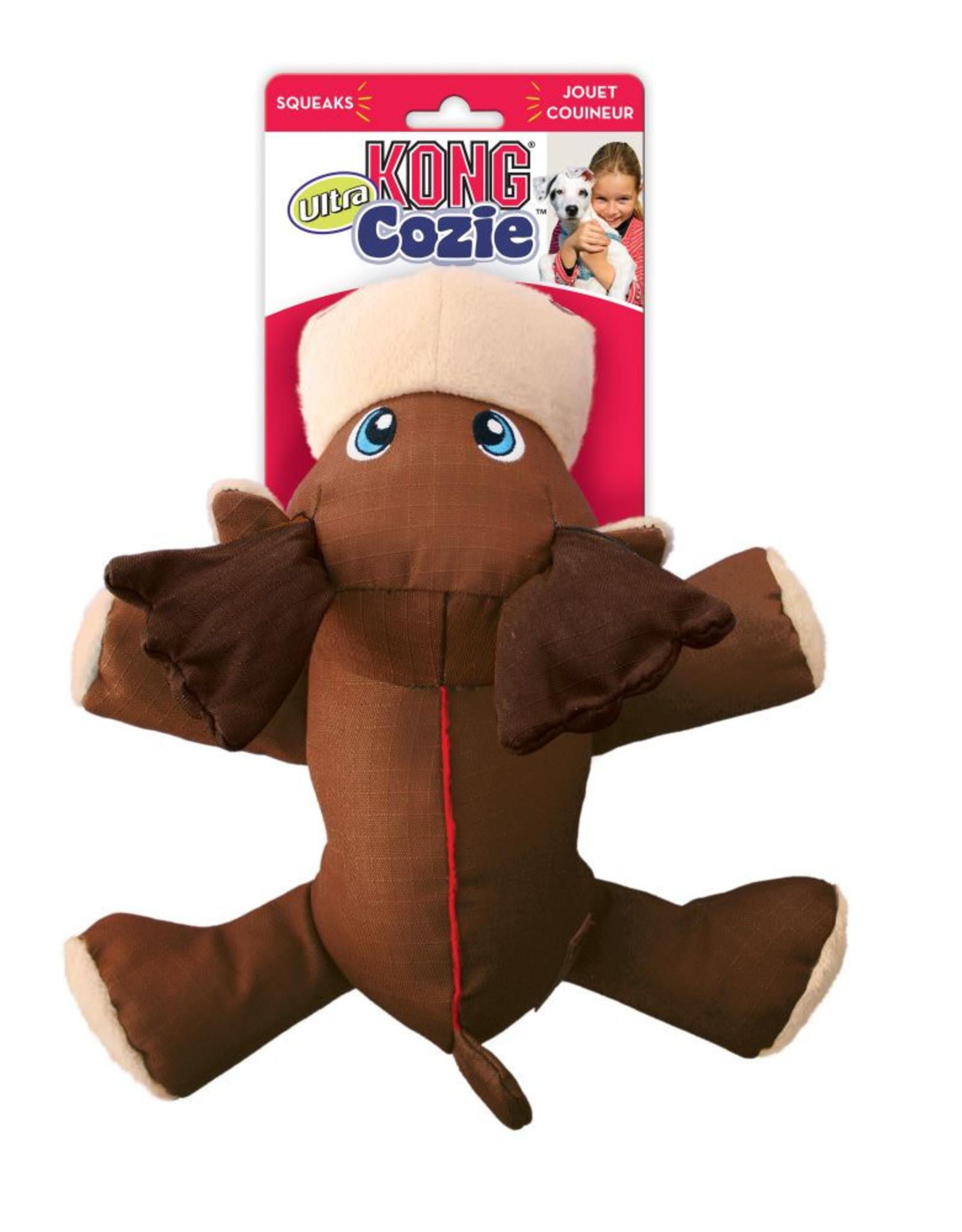 KONG Cozie Ultra Max Moose Dog Toy, Medium