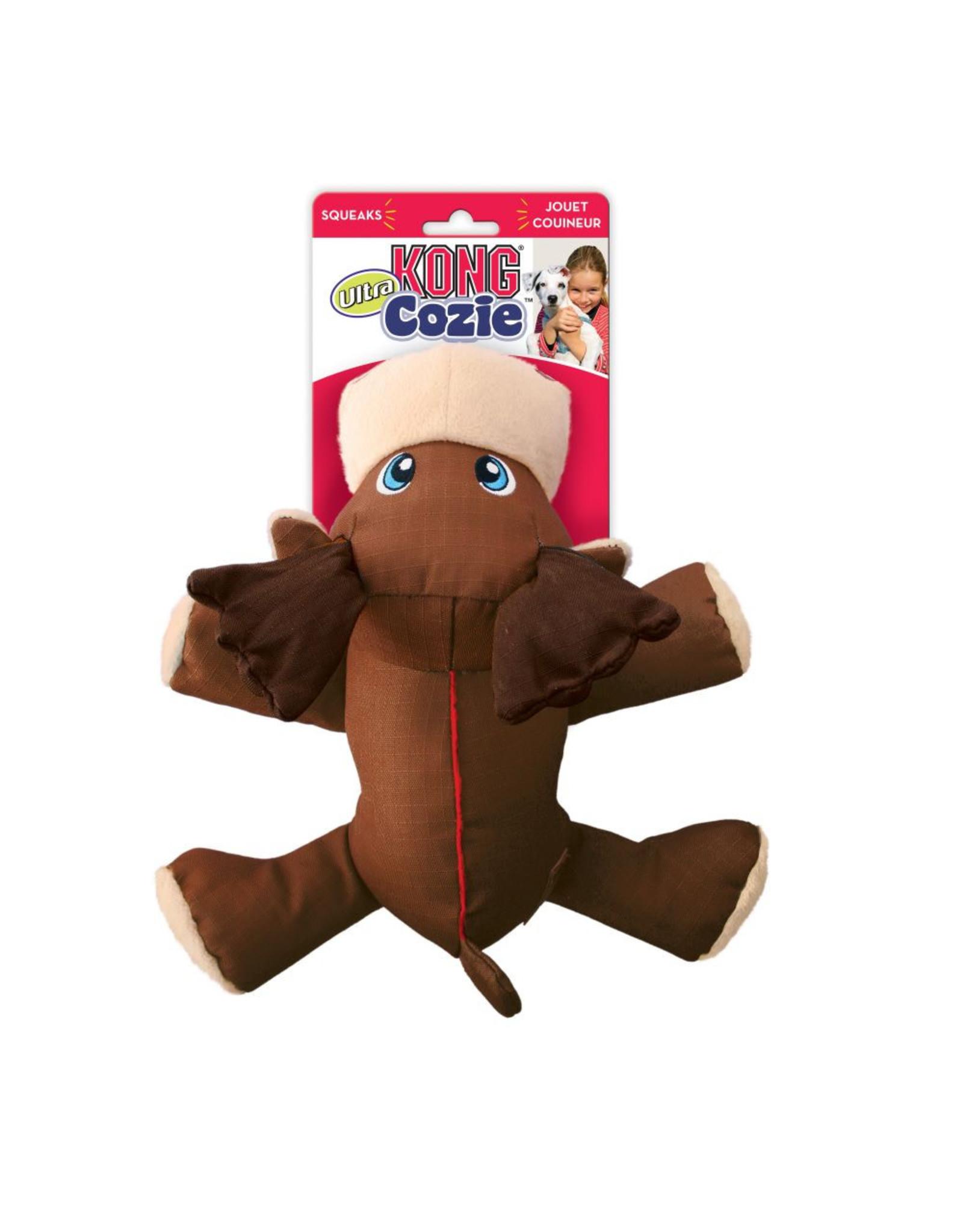 KONG Cozie Ultra Max Moose Plush Dog Toy, Medium