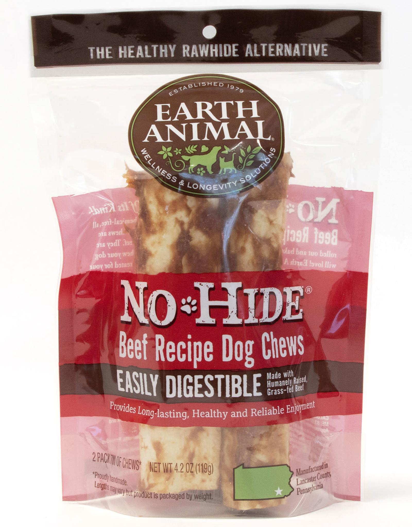 Earth Animal No Hide Beef Recipe Chews 2 pack