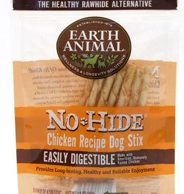 Earth Animal No Hide Chicken Recipe Dog Stix Chew 10 pack 45g