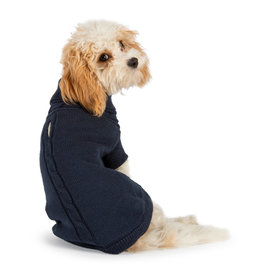 Ancol Cable Knit Dog Jumper in Blue