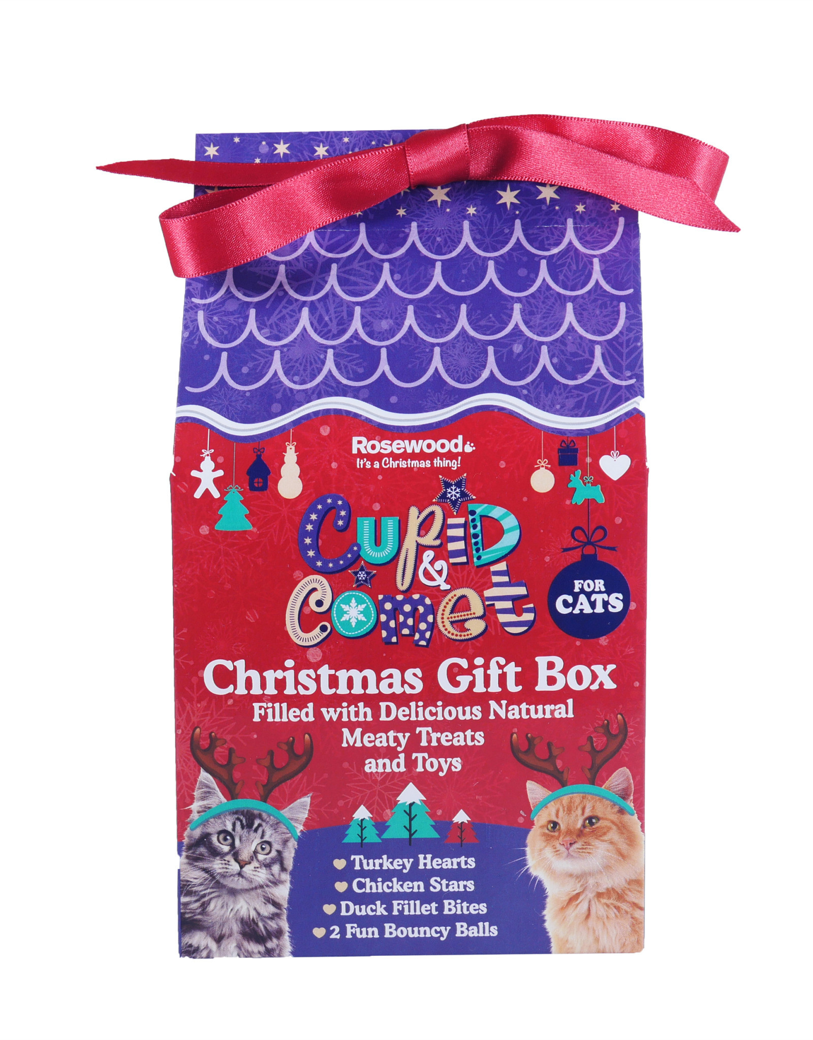 Rosewood Christmas Christmas Gift Box for Cats, 100g