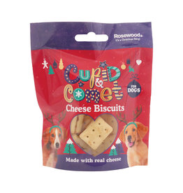 Rosewood Christmas Cupid & Comet Cheese Biscuits For Dogs 40g