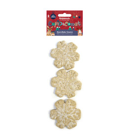 Rosewood Christmas Cupid & Comet Small Animal Edible Snowflake Gnaws 3 pack