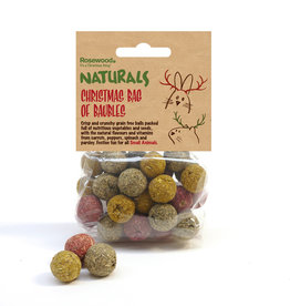 Rosewood Christmas Naturals Small Animal Bag of Baubles Treats 100g
