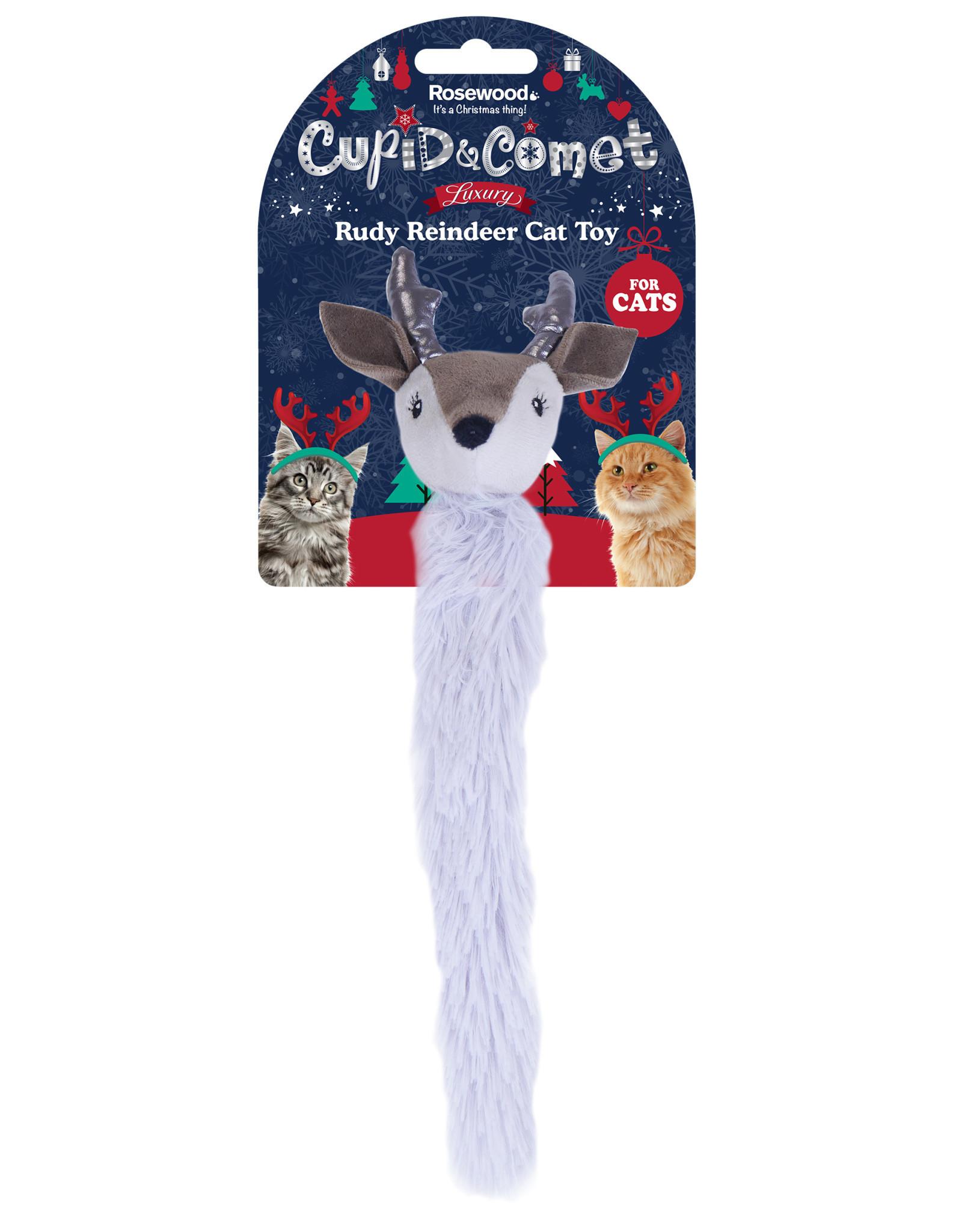Rosewood Christmas Rudy Reindeer Cat Toy