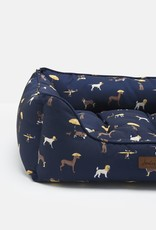Joules Coastal Collection Dog Print Square Box Dog Bed