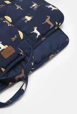 Joules Coastal Collection Dog Print Dog Travel Blanket Mat 91x68cm