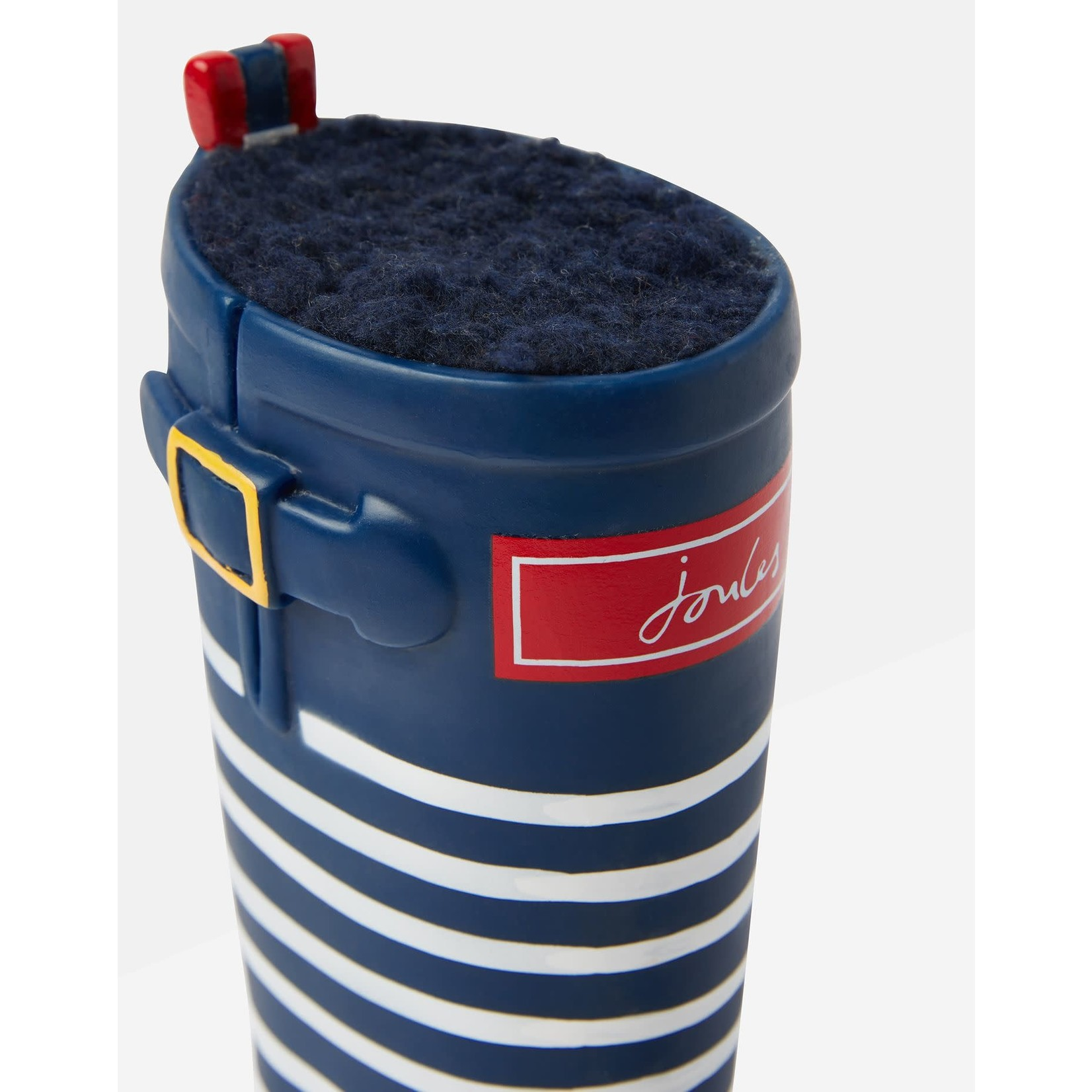 Joules Coastal Collection Stripey Wellington Boot Dog Toy