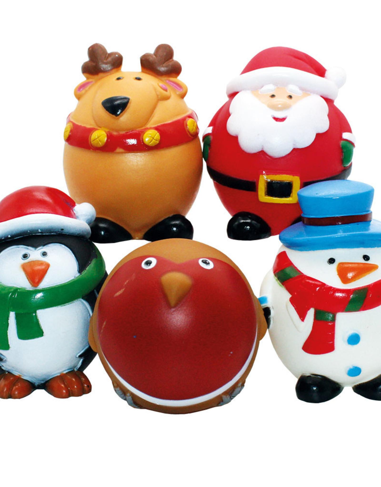 Happy Pet Christmas Festive Friends Vinyl Dog Toy Mix