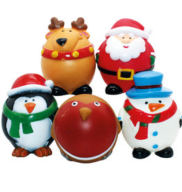 Happy Pet Christmas Festive Friends Vinyl Dog Toy Mix