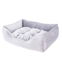 Rosewood Luxury Silver Velvet Bed, Medium