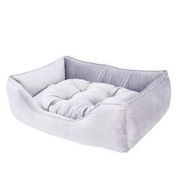 Rosewood Luxury Silver Velvet Bed, Large
