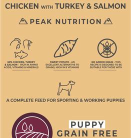 Borders Grain Free Puppy Food Chicken with Turkey & Salmon 2kg