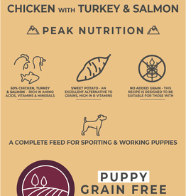 Borders Grain Free Puppy Junior Food Chicken with Turkey & Salmon 2kg