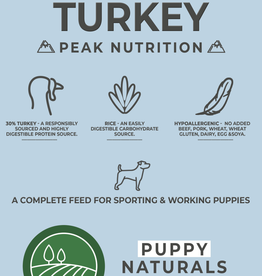 Borders Naturals Puppy Junior Food with Turkey & Rice 2kg