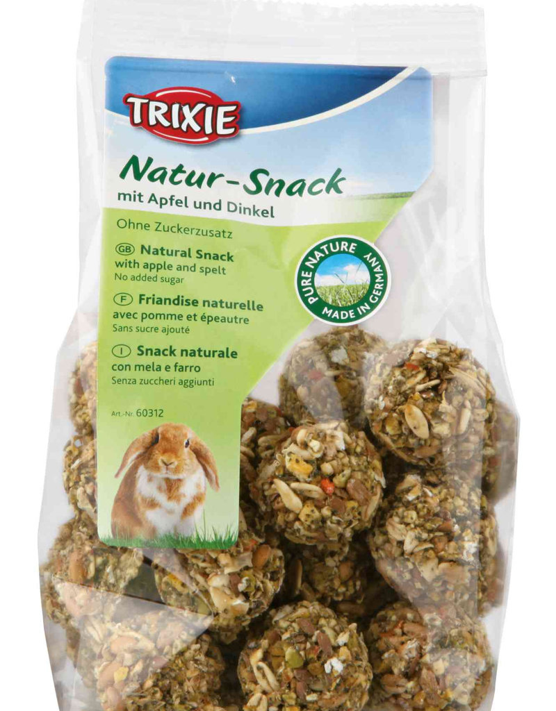 Trixie Natur-Snack Small Animal Ball Shape Treats with Apple and Spelt 140g
