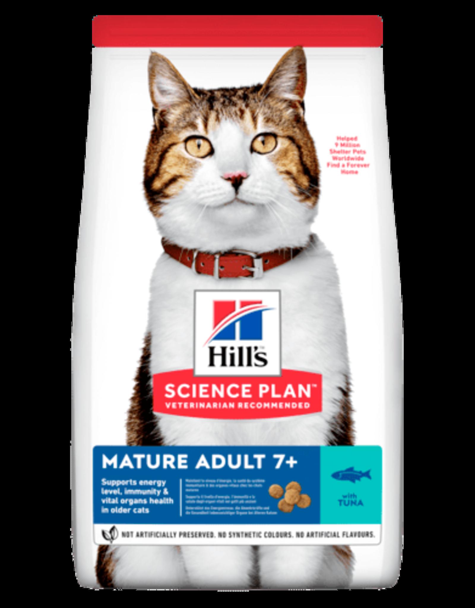 Hill's Science Plan Mature Adult 7+ Cat Dry Food, Tuna 1.5kg