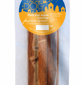 Hollings Christmas Pork & Apple Sausage Dog Treat  pack of 3