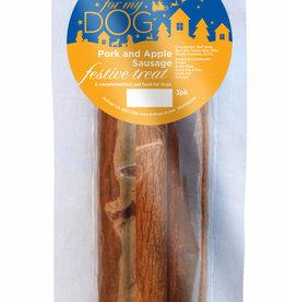 Hollings Christmas Pork & Apple Sausage Festive Dog Treat, 3 pack
