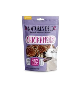 petello Natures Deli Chicken & Fish Sushi Rolls Dog Chew Treats, 100g