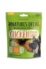 petello Natures Deli Chicken Wrapped Rawhide Donut Dog Chew 75g