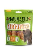 petello Natures Deli Chicken Wrapped Rawhide Twist Dog Chews Medium 6 pack 120g