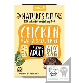 petello Natures Deli Wet Adult Dog Food, Chicken with Sage & Brown Rice 400g