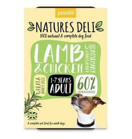 petello Natures Deli Wet Adult Dog Food, Lamb & Chicken with Rosemary & Brown Rice 400g