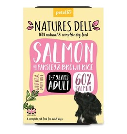 petello Natures Deli Wet Adult Dog Food, Salmon with Parsley & Brown Rice 400g