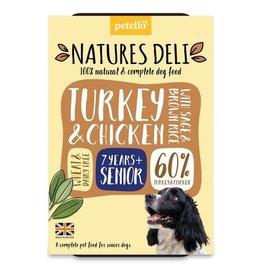 petello Natures Deli Wet Senior Dog Food, Turkey & Chicken with Sage & Brown Rice 400g