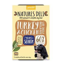 petello Natures Deli Turkey & Chicken with Sage & Brown Rice Senior Dog Wet Food, 400g