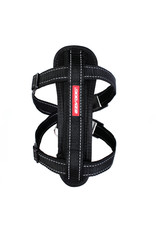 EzyDog Chest Plate Dog Harness with Seat Belt Loop, Black
