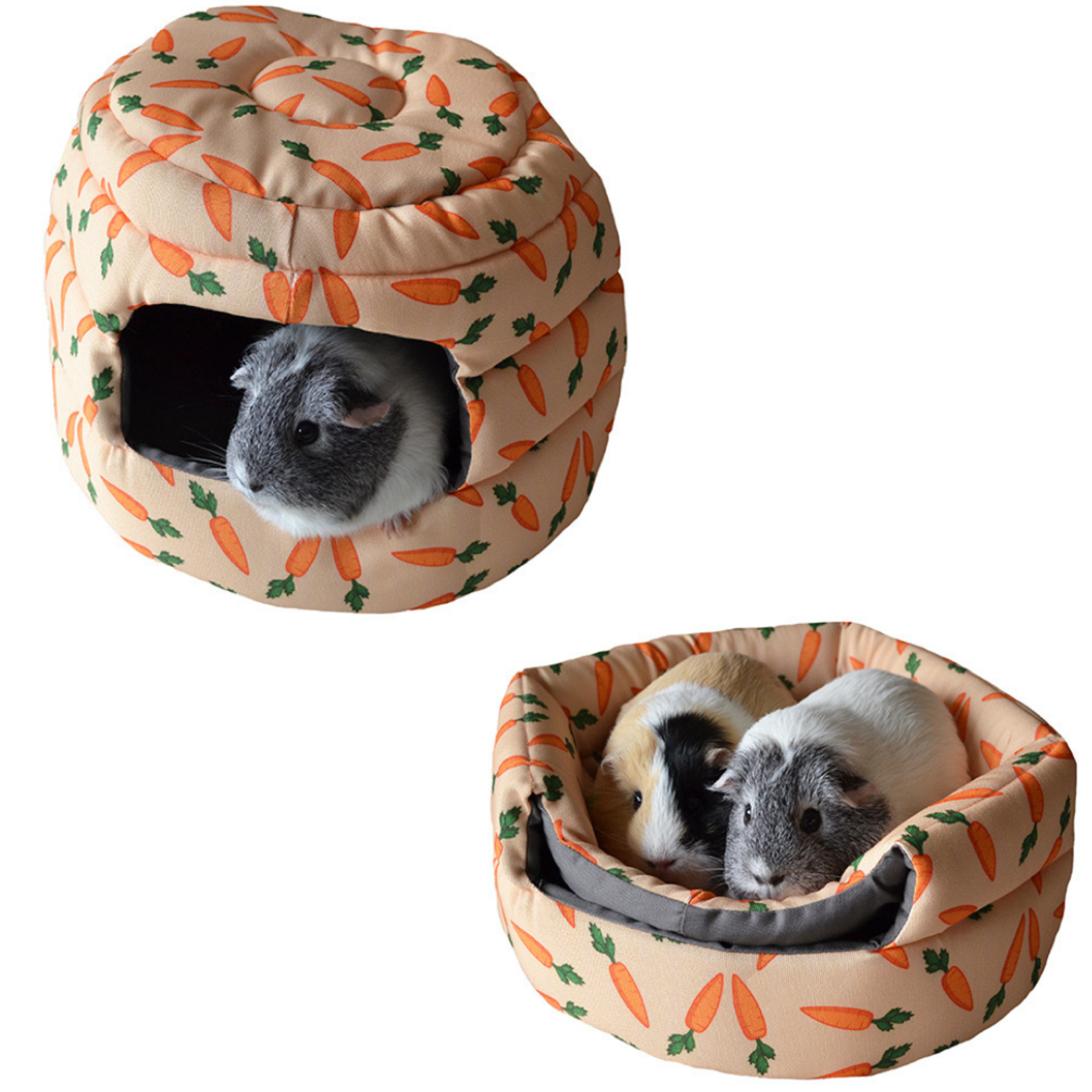 Rosewood 2 in 1 Carrot Design 'Beehive' Small Animal Bed