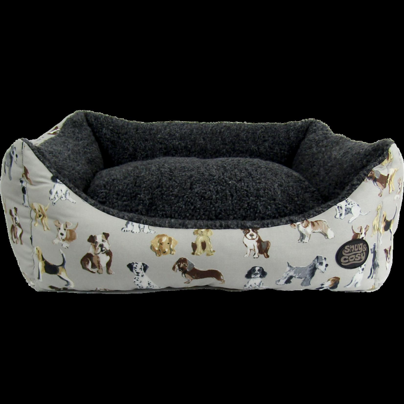 Snug & Cosy Dog Print Dog Bed