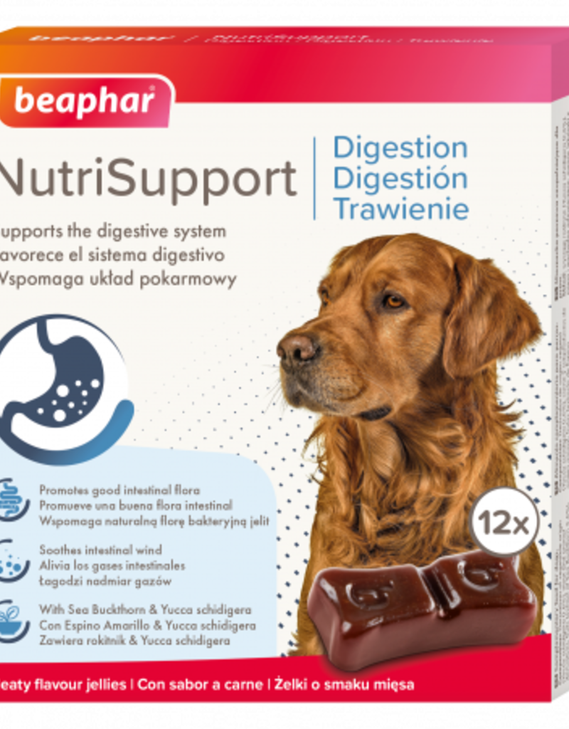 Beaphar NutriSupport Digestion Dog Supplement, 12 pack