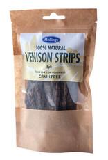 Hollings 100% Natural Venison Strips Grain Free Dog Treats , 5 pack