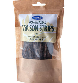 Hollings 100% Natural Venison Strips Grain Free Dog Treats , 5 pack