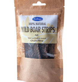 Hollings 100% Natural Wild Boar Strips Dog Treats 5 pack