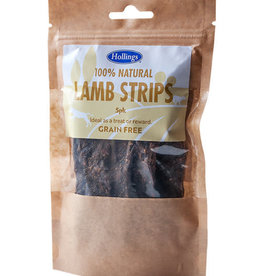 Hollings 100% Natural Lamb Strips Grain Free Dog Treats, 5 pack