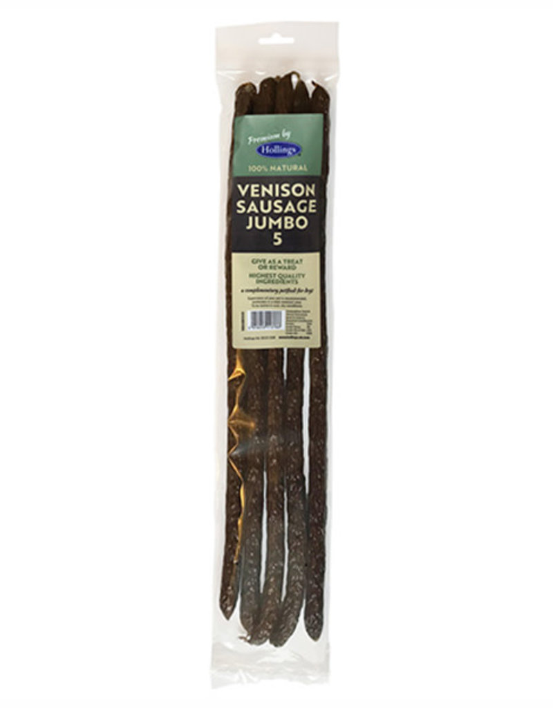 Hollings Jumbo Venison Sausage Dog Treats 5 pack