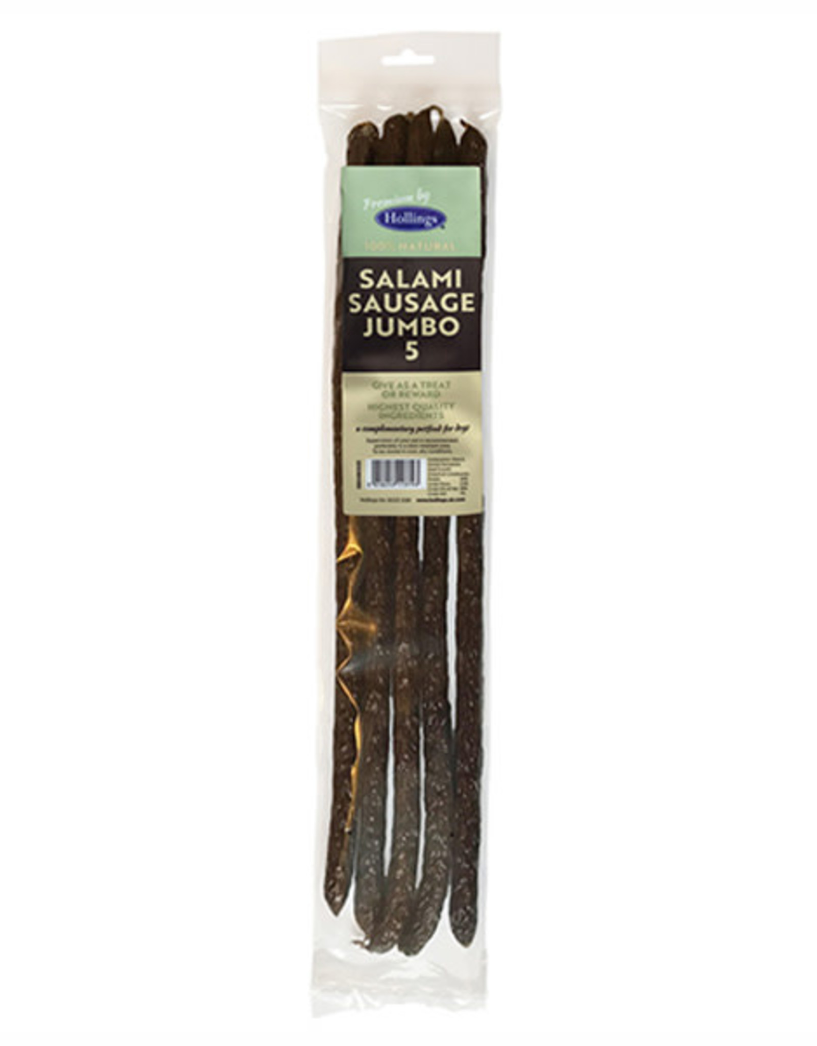 Hollings Jumbo Salami Sausage Dog Treats, 5 pack
