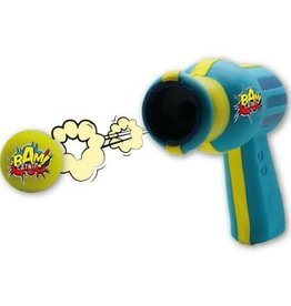 BAM Catnip Gun Cat Toy in Blue and Yellow