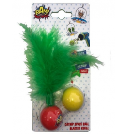 BAM Catnip Gun Cat Toy Refill Feather Balls