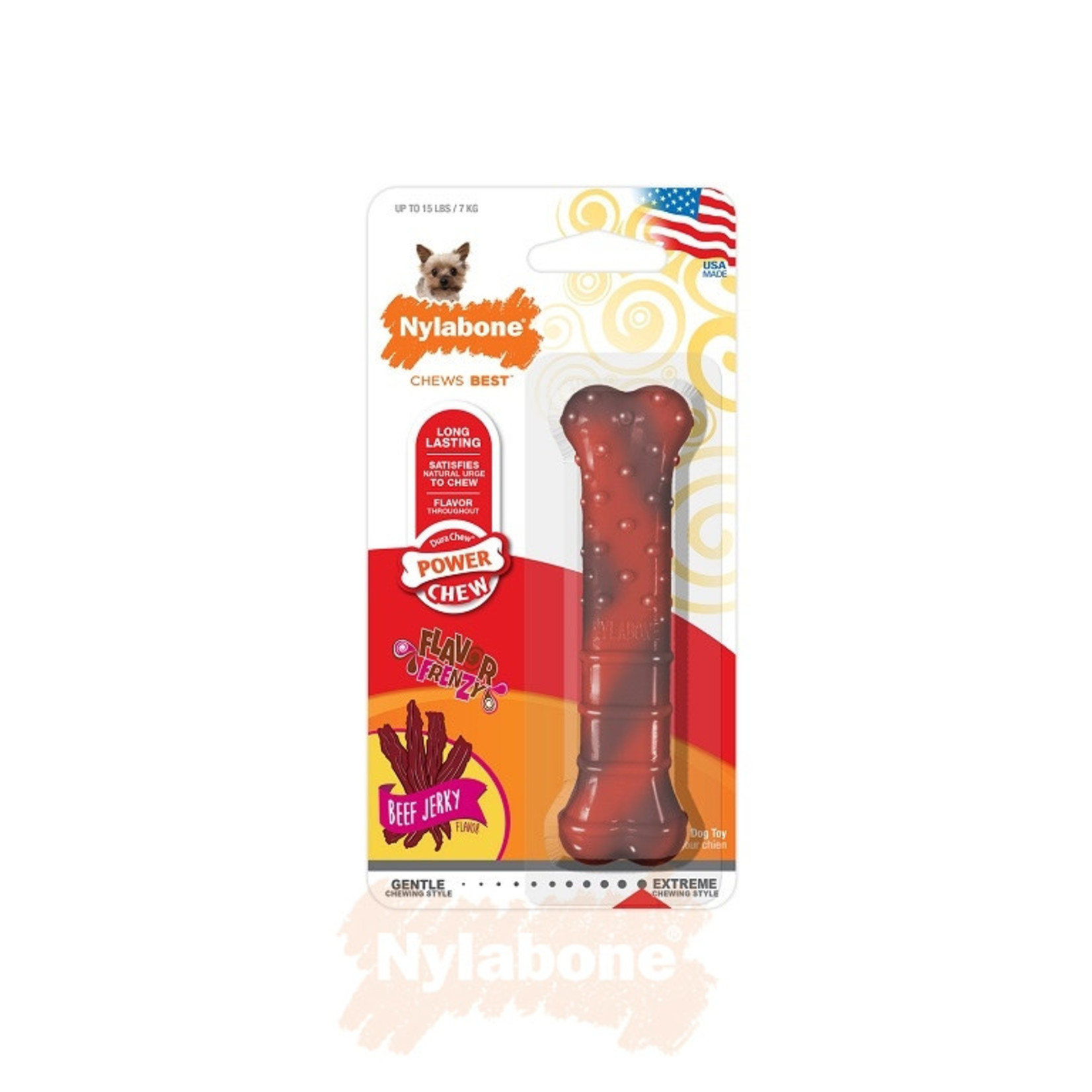 Nylabone Dura Chew Textured Beef Jerky Dog Chew Toy