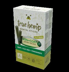 True Hemp Skin & Coat Grain Free Dental Sticks for Dogs, 28 sticks, 400g