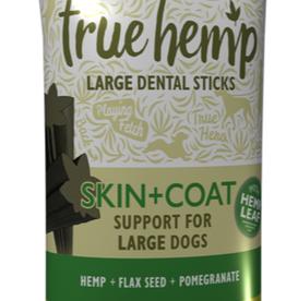 True Hemp Skin & Coat Grain Free Large  Dental Sticks Dog Treats, 5 sticks, 125g